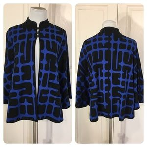 MING WANG Capelet Poncho Sweater